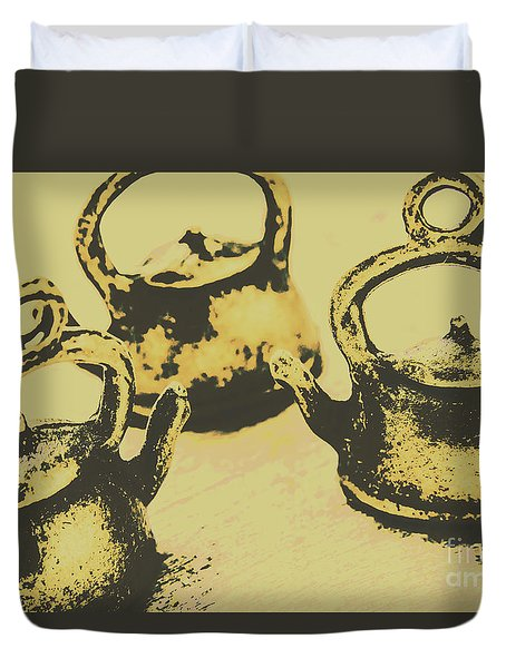 Early Vintage Tea Duvet Cover