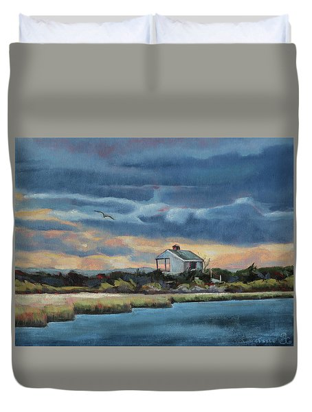 Early Winter Nocturne Duvet Cover