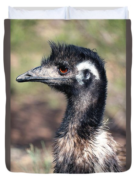 Earnest Emu Duvet Cover