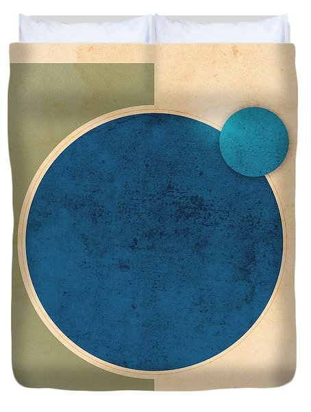 Earth And Moon Graphic Duvet Cover by Phil Perkins