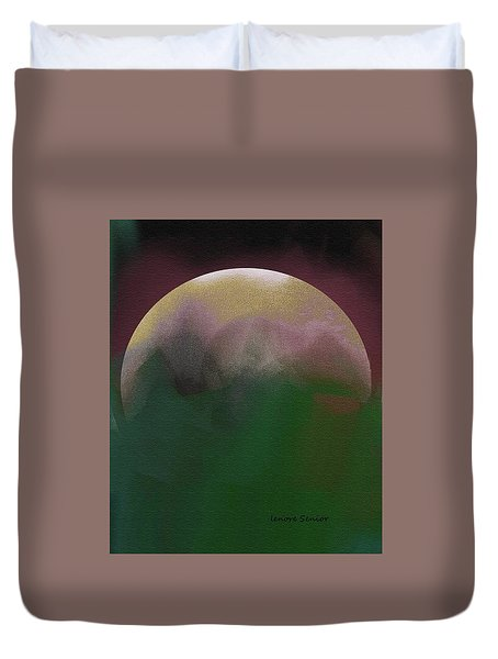 Earth And Moon Duvet Cover