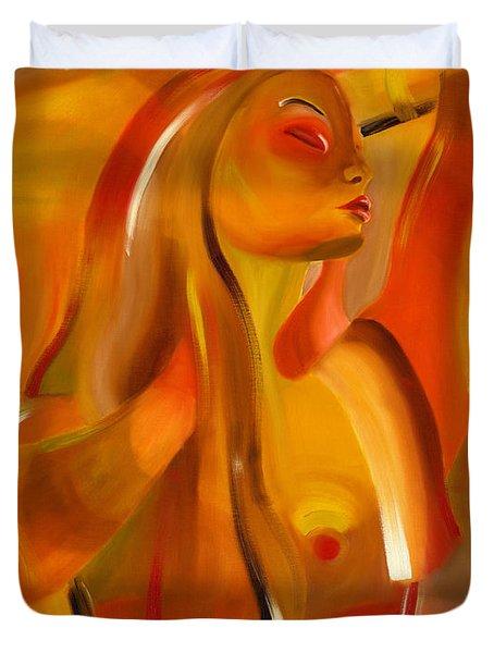 Earth-coloured Duvet Cover by Hakon Soreide