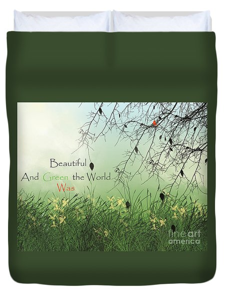 Earth Day 2016 Duvet Cover by Trilby Cole