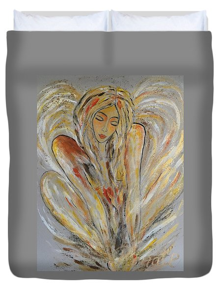 Earth Has Angels Far To Few And Heaven Is Overflowing.... Duvet Cover