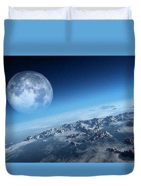 Earth Icy Ocean Aerial View Duvet Cover