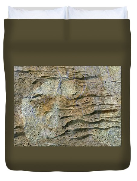 Duvet Cover featuring the photograph Earth Memories-sleeping River # 2 by Ed Hall