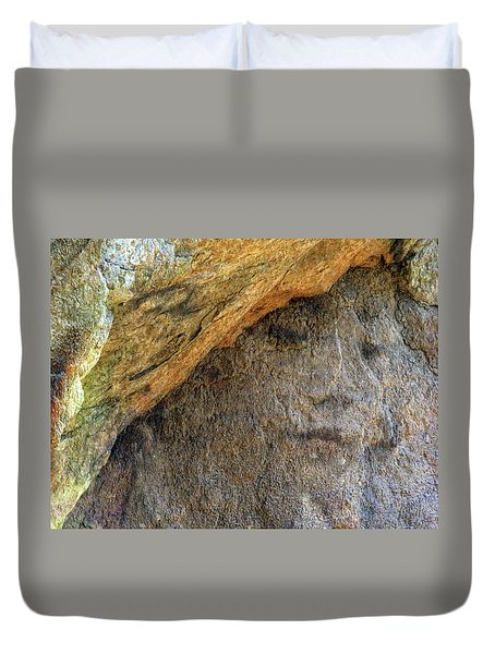 Duvet Cover featuring the photograph Earth Memories-stone # 4 by Ed Hall