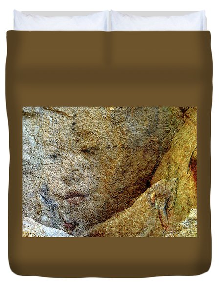 Duvet Cover featuring the photograph Earth Memories - Stone # 5 by Ed Hall