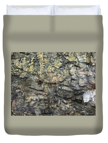 Duvet Cover featuring the photograph Earth Memories - Stone # 6 by Ed Hall