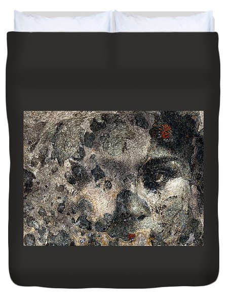Duvet Cover featuring the photograph Earth Memories - Stone # 7 by Ed Hall