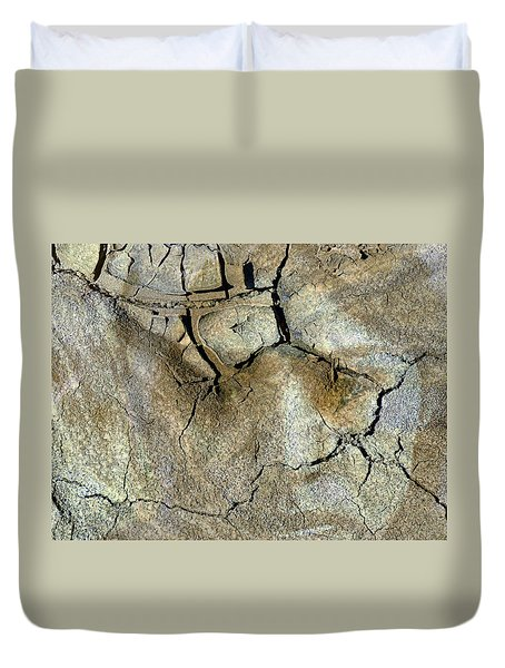 Duvet Cover featuring the photograph Earth Memories-thirsty Earth by Ed Hall