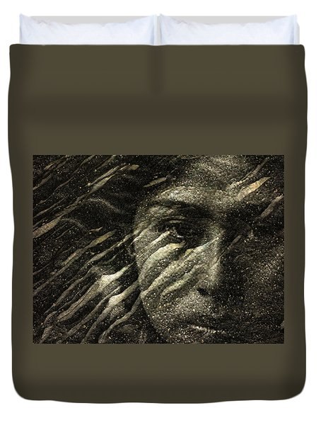 Duvet Cover featuring the photograph Earth Memories - Water Spirit by Ed Hall