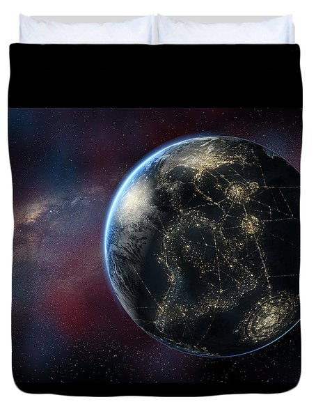 Earth One Day Duvet Cover by David Collins