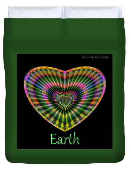 Duvet Cover featuring the digital art Earth by Visual Artist Frank Bonilla