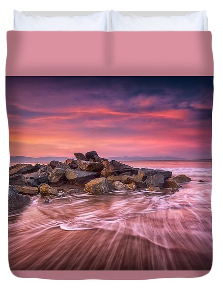 Earth, Water And Sky Duvet Cover