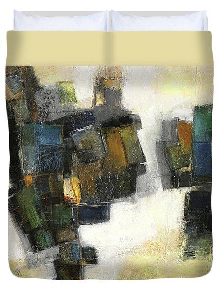 Lemon And Tiles Duvet Cover by Behzad Sohrabi
