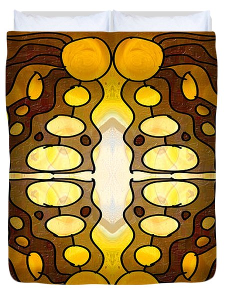 Earthly Awareness Abstract Organic Artwork By Omaste Witkowski Duvet Cover