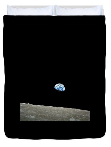 Earthrise - The Original Apollo 8 Color Photograph Duvet Cover
