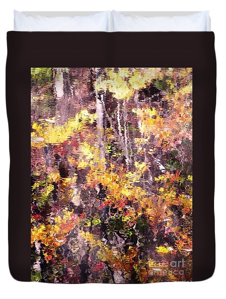 Duvet Cover featuring the photograph Earthy Water by Melissa Stoudt