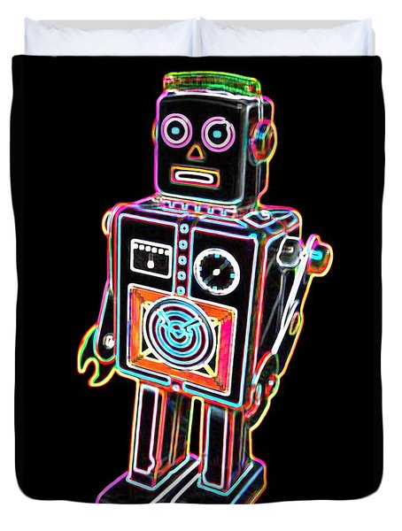 Easel Back Robot Duvet Cover by DB Artist