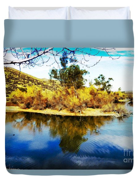 Duvet Cover featuring the photograph East Bay, Canyon Lake, Ca by Rhonda Strickland