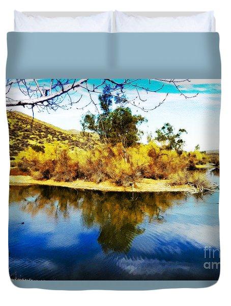 East Bay, Canyon Lake, Ca Duvet Cover