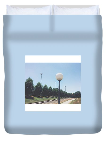 East Campus Stroll Duvet Cover by Matt Urich
