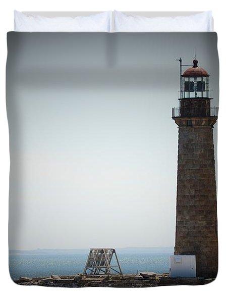 East Coast Lighthouse Duvet Cover