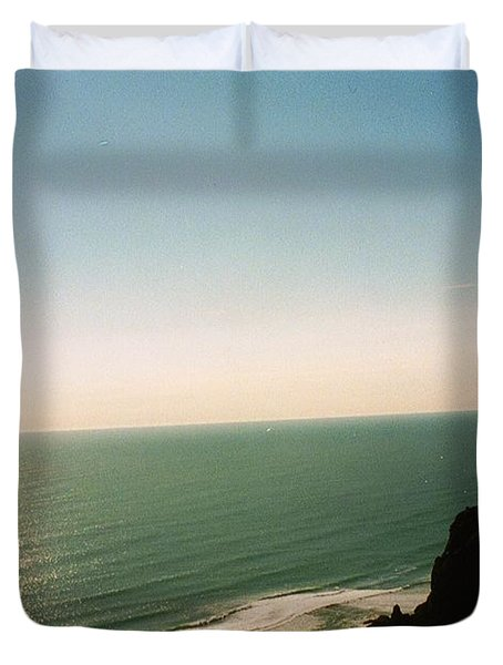 East Coastline In New Zealand Duvet Cover