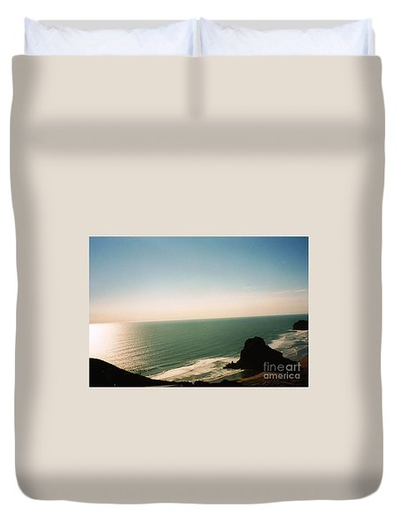 East Coastline In New Zealand Duvet Cover