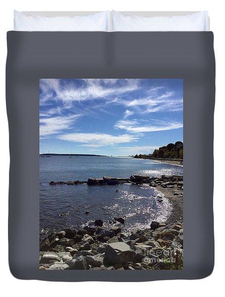 East End Beach Portland, Maine, October 2015 Duvet Cover by Patricia E Sundik