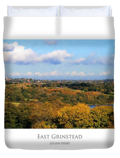 Duvet Cover featuring the digital art East Grinstead by Julian Perry