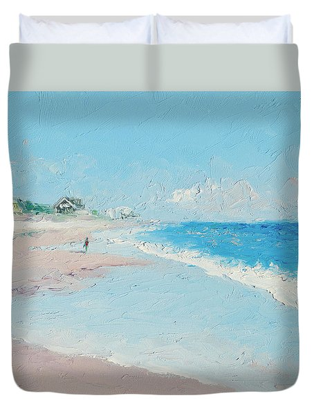 East Hampton Beach Duvet Cover