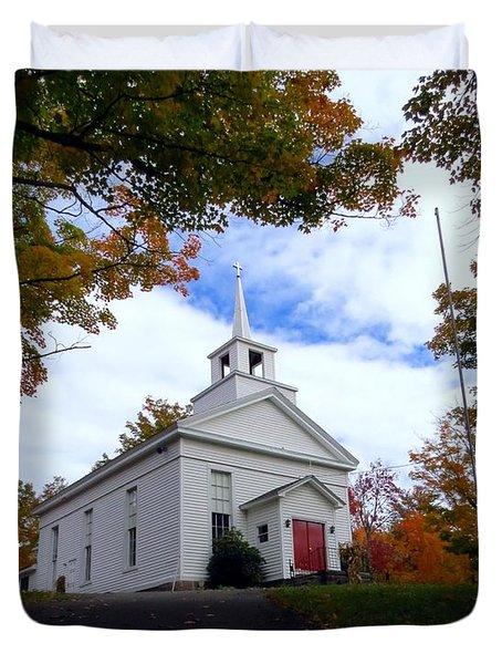 East Jewett Church Duvet Cover
