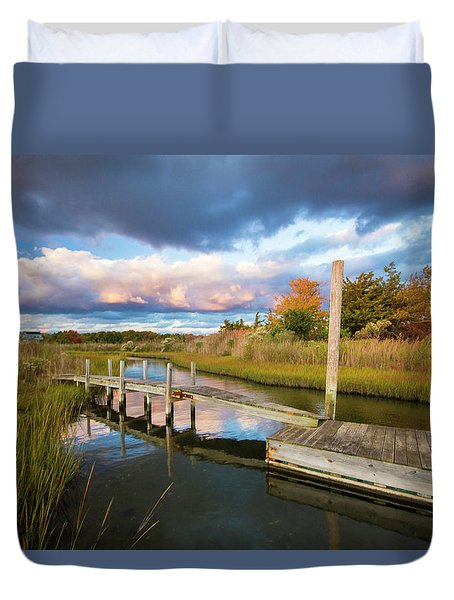 East Moriches Reflections Duvet Cover