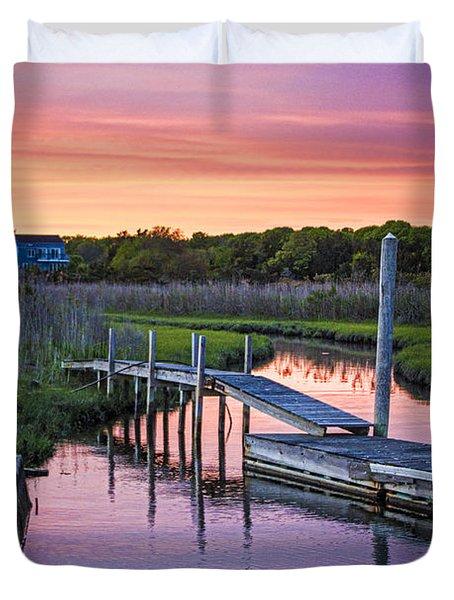 East Moriches Sunset Duvet Cover