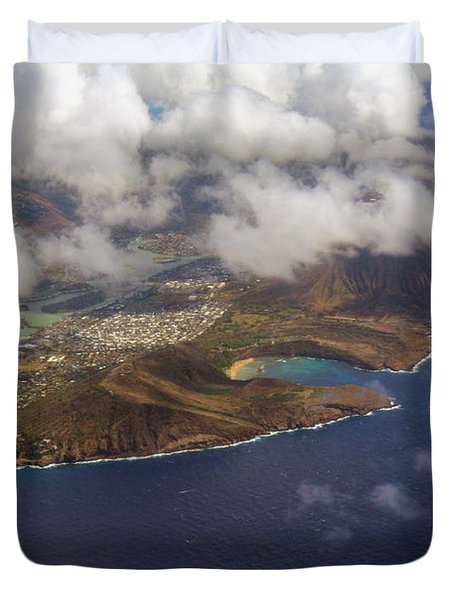 East Oahu From The Air Duvet Cover