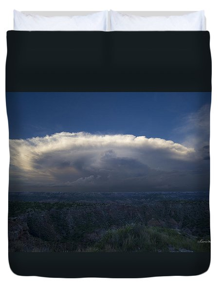 East Of The Palo Duro Duvet Cover