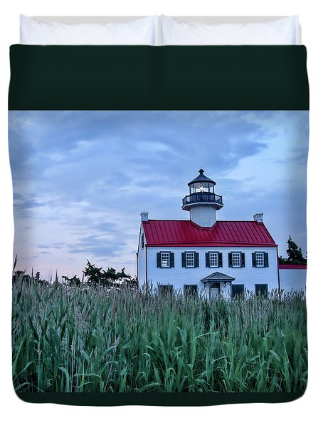East Point At Twilight Duvet Cover