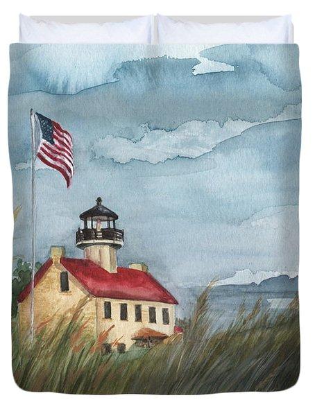 East Point Lighthouse Duvet Cover