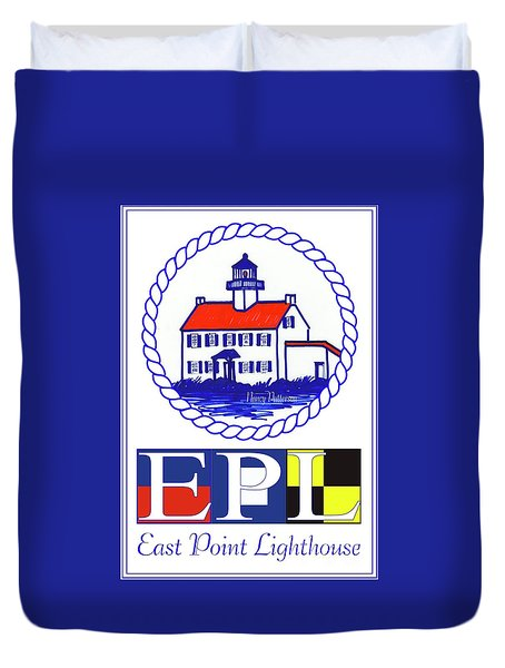 East Point Lighthouse Poster - 2 Duvet Cover by Nancy Patterson