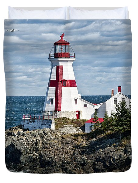 East Quoddy Lighthouse Duvet Cover by John Greim