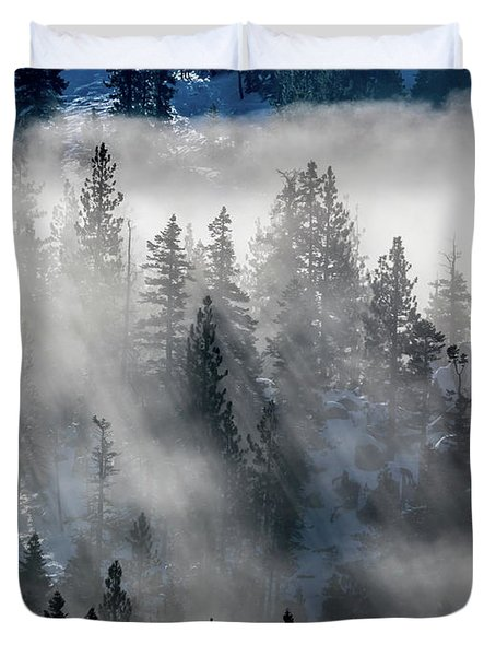East Shore Inversion, Lake Tahoe Duvet Cover