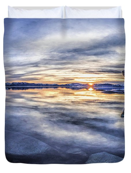 East Shore Sunset Duvet Cover