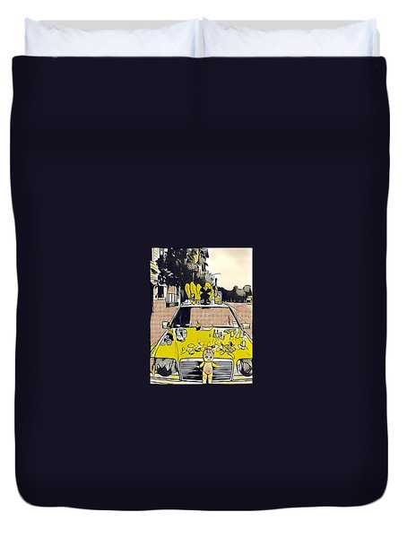 East Side Electric Duvet Cover