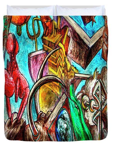East Side Gallery Duvet Cover by Joan Carroll
