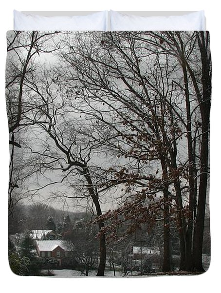 East Tennessee Winter Duvet Cover by Todd A Blanchard