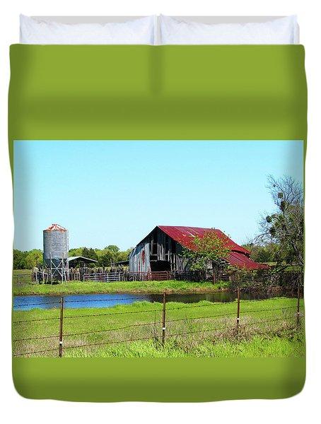 East Texas Barn Duvet Cover
