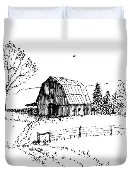 East Texas Hay Barn Duvet Cover