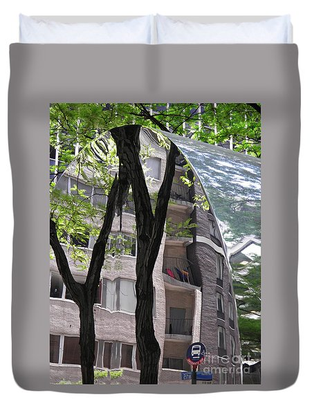 Duvet Cover featuring the photograph East West Gate 4  by Sarah Loft